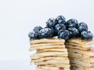 Pancakes glutenfrei mit Heidelbeeren
